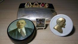 Кокарда МВД , ссср.Барельеф Сталин.Барельеф Ленин.