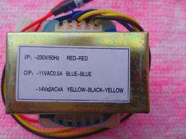 Трансформатор двухполярный 14Vx2AC4A.