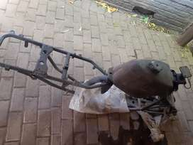 Quad frame, 4 quad rims and tyres, front and back shock