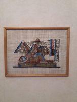 Папирус в рамке под стеклом 42x32