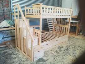 We manufacture all in pine wood and reclaimed wood