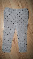 H&M-sliczne spodnie rurki- 92 cm nowe