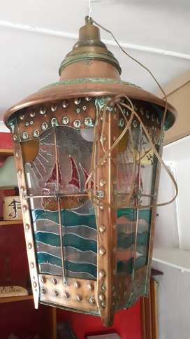 Vintage One-of-a-Kind LAMP - COPPER and BRASS Cash or swop