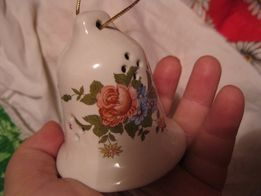 декор интерьер колокольчик фарфор европа цветы большой сувенир