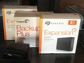 Affordable and used 5TB 4TB 2TB 1TB and 500  Gig