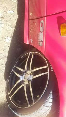 17' wheels pvd 4100 mags is brand new so is tyres