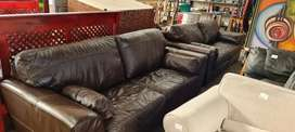 Genuine Leather 2x 3 Seater originally from Leather Gallery