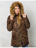 Куртка зимняя женская парка Alpha Industries Slim Fit N-3B Parka!