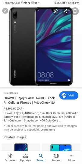 Sellng Huawei Enjoy 9