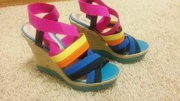 Sandały espadryle ZIGISOHO roz 39 kolorowe