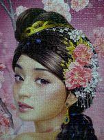 "Картина из пазлов ""Девушка с цветком"""
