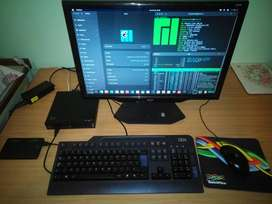 Lenovo m73 Core i3 4gb DDR3 320gb HDD with keyboard, mouse and monitor