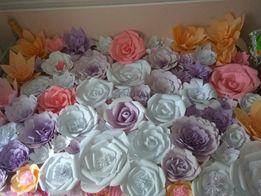 Бумажные цветы для фотозоны на прокат