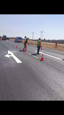 Road Marking, line parkings and painting  of pave
