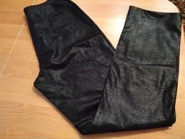 Spodnie skóra 100% połyskujący zamsz