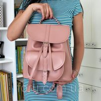 """Женский кожаный рюкзак """"Patsy"""" розовый"""