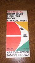 Mapa Województw Ciechanowskie, Ostrołęckie, Płockie, Stoł. Warszawskie