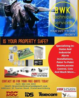 affordable alarm technician and CCTV installation.