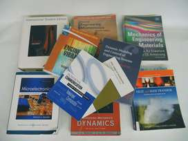 Ref:E411.10; Set of 10 Engineering Text Books for R395
