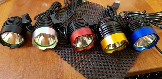 Вело фара USB 5 цвет CREE XM-L T6 LED 500Lm велосипед велофара фонарь Черкассы - изображение 3