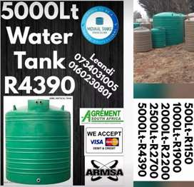 5000Lt water tanks and various other sizes available