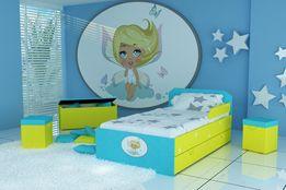 Śliczne łóżko dla dziecka,dziewczynki z materacem i szufladą,dostawa