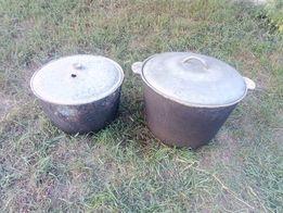 2 по ціні 1: Казан з кришкою 75 л і 50 л, дюралюміній харчовий товстий