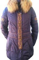 Пуховик теплая куртка Tafika в идеальном состоянии размер 42 (s)
