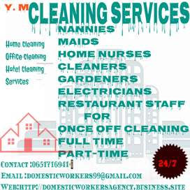 CLEANING SERVICES AND DOMESTIC HELPERS