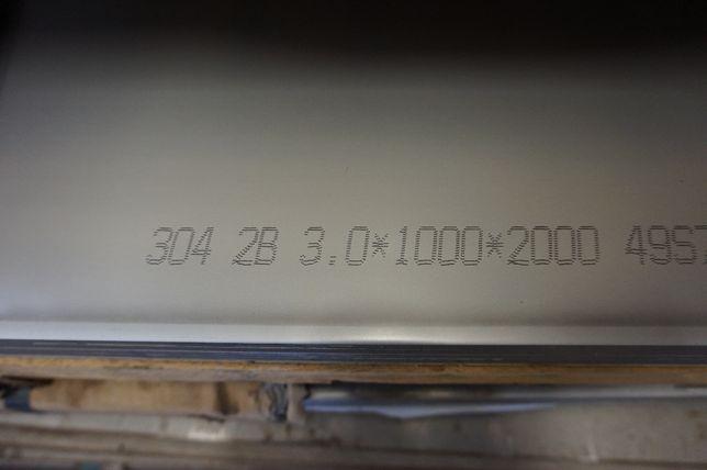 Blacha kwasoodporna, nierdzewna 3x1000x2000mm gat. 304 / 1.4301 Toruń - image 5