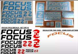 Focus bicycle frame and rim decals stickers graphics sets