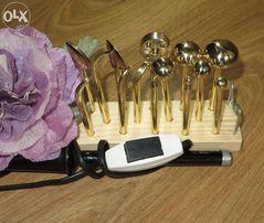Инструмент для цветоделия из ткани и кожи.Бульки.
