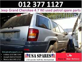 Jeep Grand Cherokee 4.7 Wj 1999-04 used petrol spare parts for sale