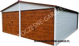 Garaż blaszany drewnopodobny imitacja drewna nowość każdy wymiar