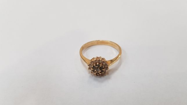 Przepiękny złoty pierścionek/ 585/ 1.9 gram/ R12/ sklep Gdynia Gdynia - image 4