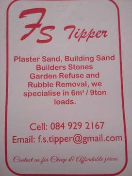 Sand and stone for sale and truck 4hire
