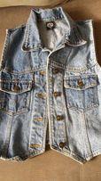 dziewczęca kamizelka jeansowa r.146