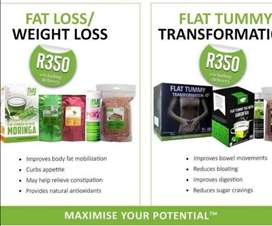 Flat tummy transformation and general body weight loss products