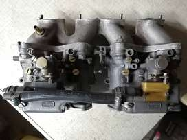 40 dellorto side drafts and intake manifold for 8v