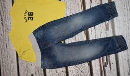 Jeansy, joggersy, spodnie rozmiar 104 F&F