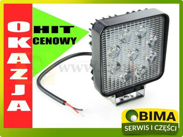 Lampa halogen roboczy 9 LED 27W 12V super cena Turobin - image 1