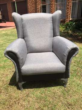 For sale Grey wing chairs