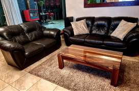 Leather couch 3 piece, 6 seater Craft & Everest