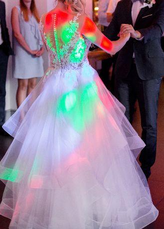 suknia ślubna piękna włoska rozmiar 38 Częstochowa - image 4