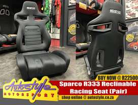Sparco R333 seats sold as a pair excluding rails R22500 GENUINE IMPORT