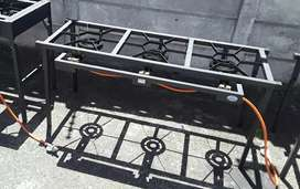 Gas boiling table/ stove - 3 Burner  (with folding legs)