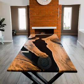 Epoxy dining room tables