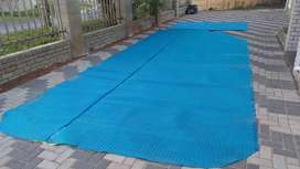 Aluminium pool rollup station and watersaving pool cover