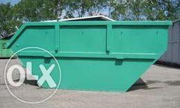 kontenery i wynajem kontenerów na gruz, śmieci, papę, ziemię, odpady