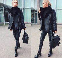 Дубленка авиатор куртка зимняя Zara mango